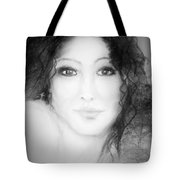 Julia In Black And White Tote Bag