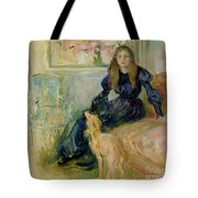 Julie Manet And Her Greyhound Laerte Tote Bag by Berthe Morisot