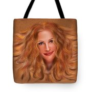 Julorobani - Julia Roberts Portrait Tote Bag