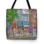 July 4th Color Guard Tote Bag