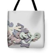 Jumbled Letters Tote Bag