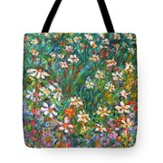 Jumbled Up Wildflowers Tote Bag