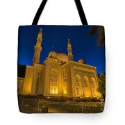 Jumeirah Mosque In Dubai, Uae Tote Bag