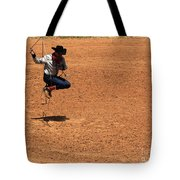Jump Rope Cowboy Style Tote Bag