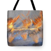 Jumped Over The Freeway - Dancing California Fires Tote Bag