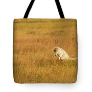 Jumping Coyote Tote Bag