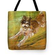 Jumping Dog Schlick 1908 Tote Bag