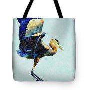 Jumping For Joy Heron Whimsy Tote Bag by Isabella Howard