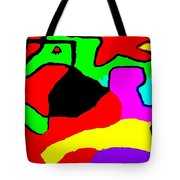 Jumping Over Purple Rock Tote Bag