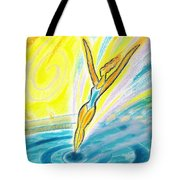 Jumping Right On Target Tote Bag