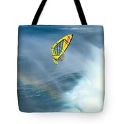 Jumping The Spray Tote Bag by Erik Aeder - Printscapes