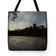 June Mississippi River Misty Dawn Tote Bag