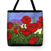 June Poppies Tote Bag