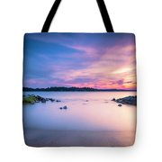 June Sunset On The River Tote Bag