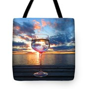 June Sunset Over Wolfe Island Tote Bag