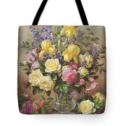 June's Floral Glory Tote Bag