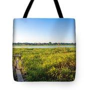 Jungle And Lake Tote Bag