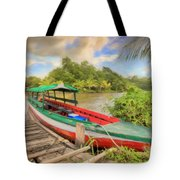 Jungle Boat Tote Bag
