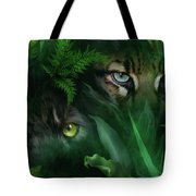 Jungle Eyes - Panther And Ocelot  Tote Bag