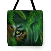 Jungle Eyes - Tiger And Panther Tote Bag