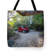 Jungle Jeep Tote Bag