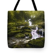 Jungle Riverflow Scene Tote Bag