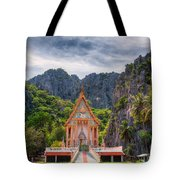 Jungle Temple Tote Bag by Adrian Evans