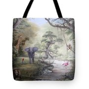 Jungle Treehouse Tote Bag