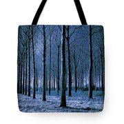 Jungle Trees In Blue  Tote Bag