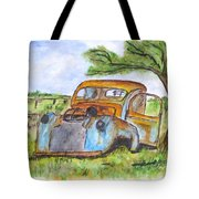 Junk Car And Tree Tote Bag