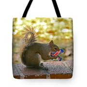 Junk Food Squirrel Tote Bag