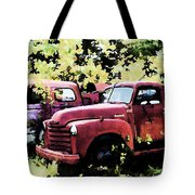 Junked Fire Engines Tote Bag
