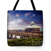Juno Beach Pier Treasure Coast Florida Seascape Dawn C5a Tote Bag