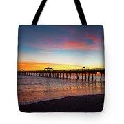 Juno Pier Colorful Sunrise Tote Bag