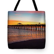 Juno Pier Colorful Sunrise Panoramic Tote Bag
