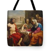Jupiter And Mercury At Philemon And Baucis Tote Bag