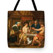 Jupiter And Mercury In The House Of Philemon And Baucis Tote Bag