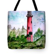 Jupiter Florida Lighthouse Tote Bag