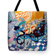 Jupiter Flyby - View From Artist Studio #1 Tote Bag