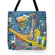 Jupiter Flyby - View From Pho Restaurant #1 Tote Bag