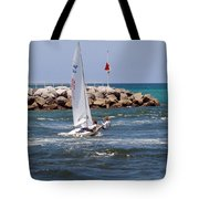 Jupiter Inlet In Florida Tote Bag