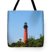 Jupiter Light In Florida Tote Bag