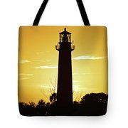 Jupiter Lighthouse Golden Sunrise Tote Bag