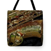 Jupiter Saxophone Tote Bag by Michelle Calkins