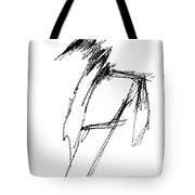Just A Horse Sketch Tote Bag