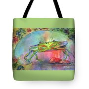 Just A Little Crabby Tote Bag