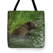Just A Swim Alaskan Grizzly Tote Bag