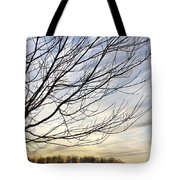 Just A Tree And Clouds Tote Bag