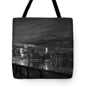 Just Across The River In Bandw Tote Bag