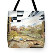 Just Another Unfinished Landscape Painting Tote Bag
